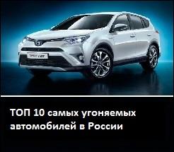 ТОП 10 самых угоняемых автомобилей в России