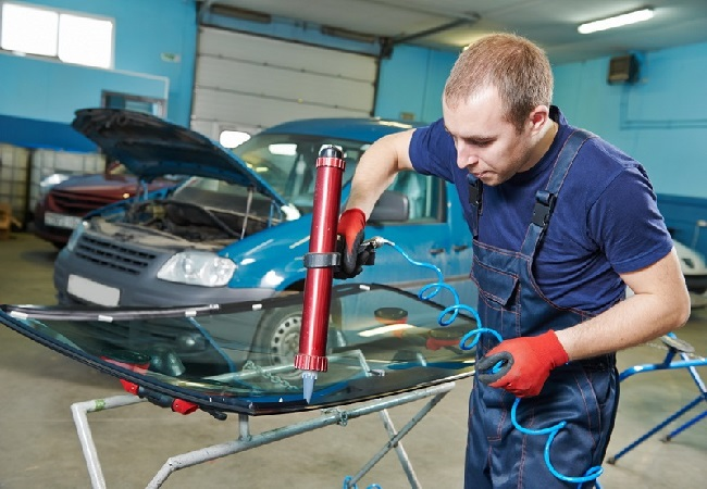 ремонт разбитого стекла