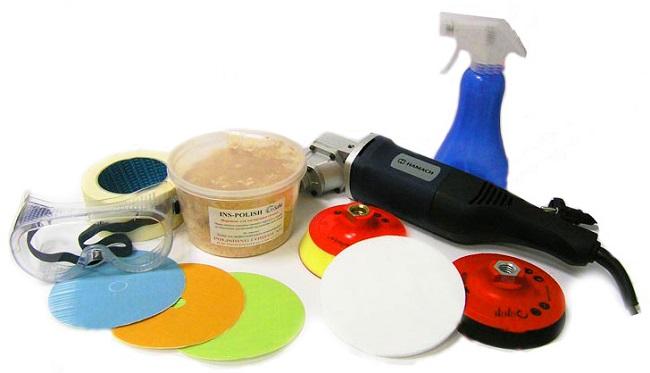 Набор инструментов для полировки стекла