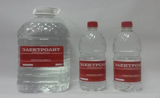 Электролит в заводской упаковке