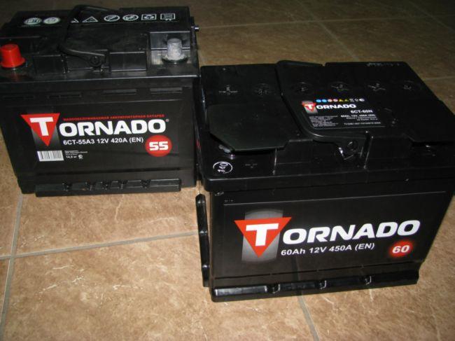 Аккумуляторы Торнадо