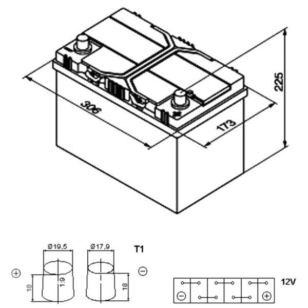 Размеры аккумулятора
