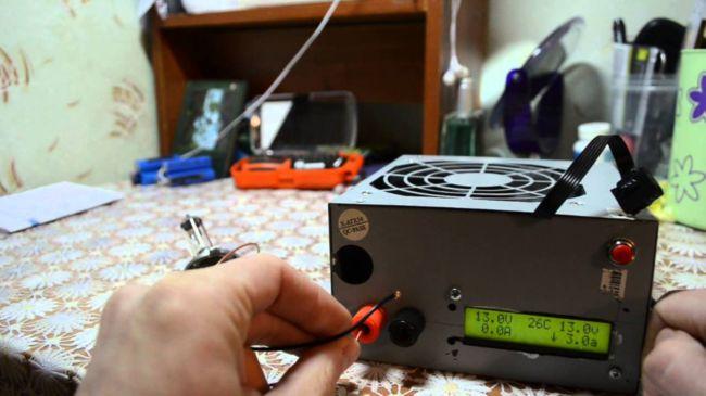 Зарядное устройство из блока питания ПК