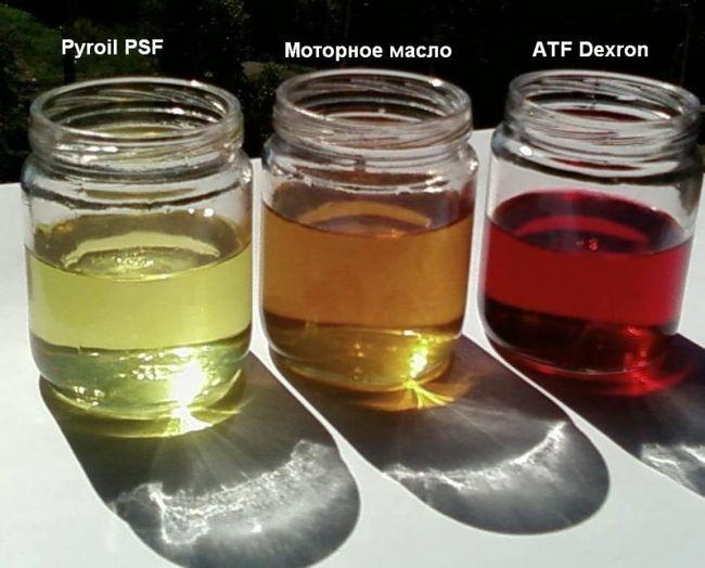 Цвет масла для гидроусилителя