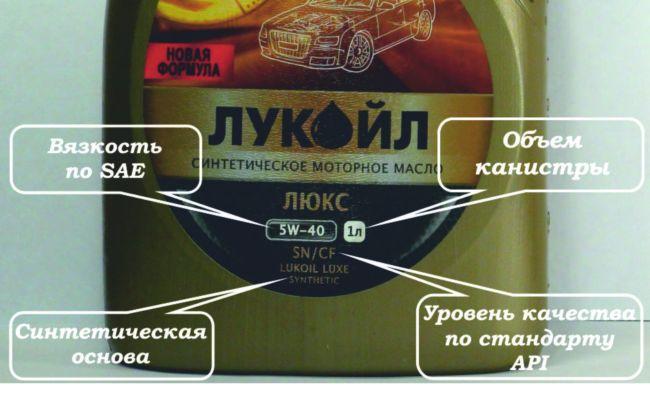 маркировка масла по типу двигателя