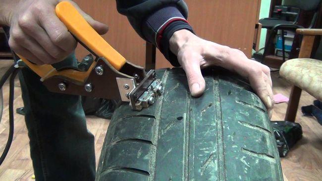 нарезка шины