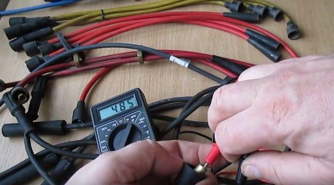 Проверка проводов зажигания