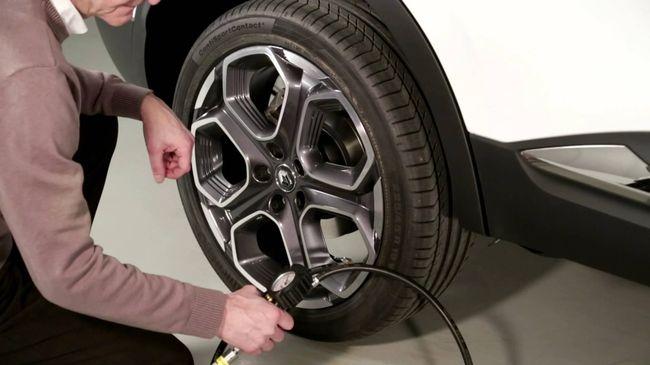 Измерение давления в шине