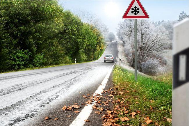 Зима дорога шины
