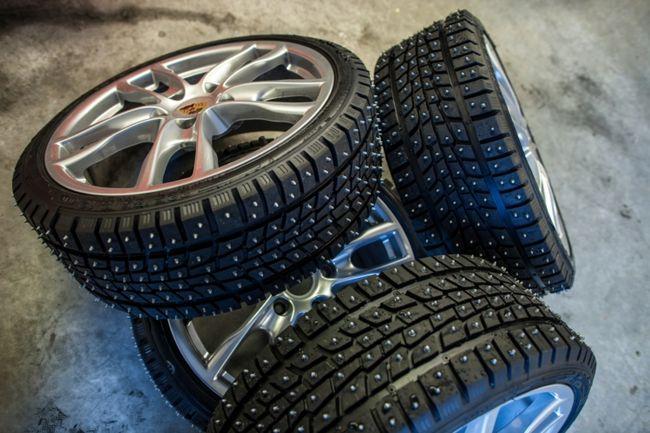 Количество шипов на шинах разных размеров