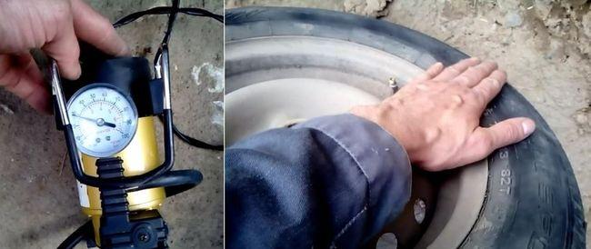 Отремонтированная шина