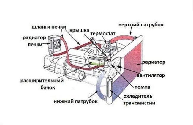 Принцип действия системы охлаждения автомобиля