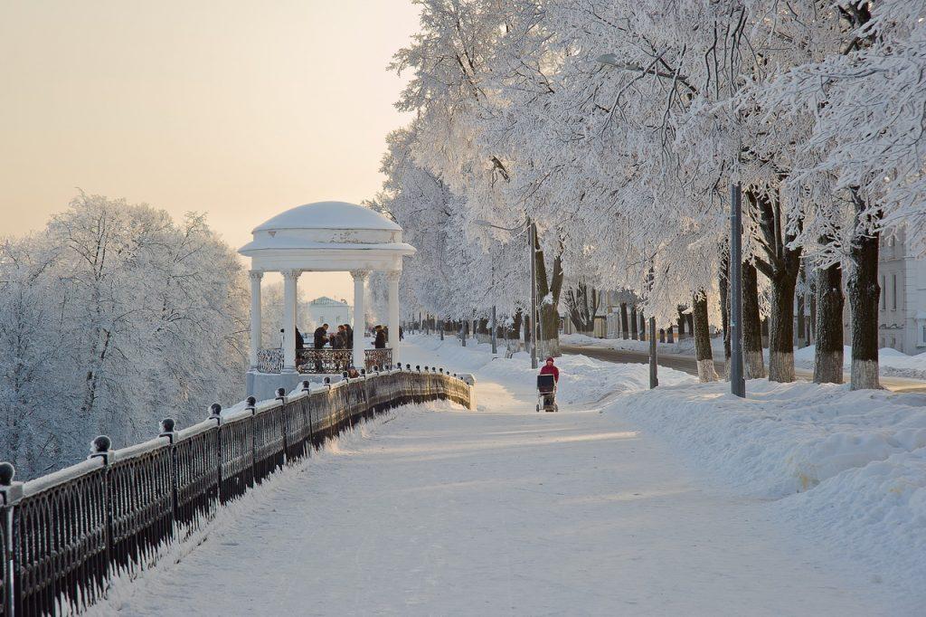 красивые города зимой